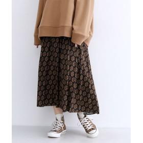 メルロー 「ルーンチェック」柄ウエストリボンプリーツスカート レディース ブラウン FREE 【merlot】