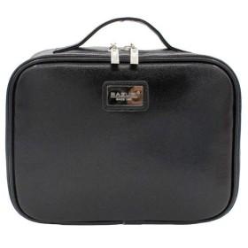 Zhiop 化粧ポーチ メイクポーチ メイクボックス 大容量 ブラシ入れ付き 機能的 防水 ビニール 収納 旅行 携帯用