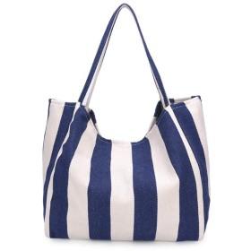 折りたたみ コンパクトバッグ ショッピングバッグ エコバッグ 買い物袋 コンビニバッグ 肩から提げれる ビッグサイズ 防水 (ダーンブルー)