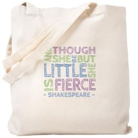 CafePress–Thoughが彼女はBe Little彼女はFierceトートバッグ–ナチュラルキャンバストートバッグ、布ショッピングバッグ S ベージュ 0906553414DECC2
