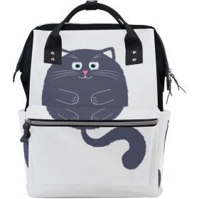 ママリュック 猫 三つ かわいい ミイラバッグ デイパック レディース 大容量 多機能 旅行用 看護バッグ 耐久性 防水 収納 調整可能 リュックサック 男女兼用