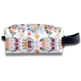 秋のフローラルウオーター 化粧ポーチ メイクポーチ ミニ 財布 機能的 大容量 アイシャドー 化粧品収納 小物入れ 普段使い 出張 旅行 メイク ブラシ バッグ ポータブル 化粧バッグ