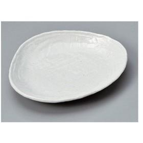 変形皿 さざなみ白三角小皿 [13.5 x 11.4 x 2cm] 料亭 旅館 和食器 飲食店 業務用