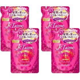 【4袋セット】 KOSE コーセー ジュレーム リラックス ノンシリコンシャンプー アミノ酸系 (スリーク&モイスト) つめかえ 400ml × 4袋