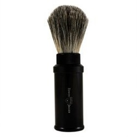 Black Aluminum Badger Travel Shave Brush by Edwin Jagger by Edwin Jagger
