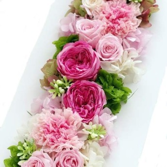 Eclaire Flower Design プリザーブドフラワー フレームアレンジ シャーベットローズ