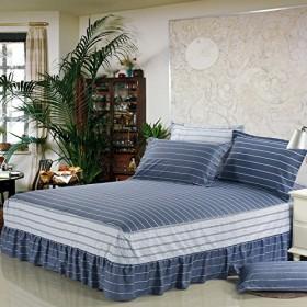 韓式田園風 ベッドスカート 選べる7種 綿100% 高品質 120200+45cm セミダブル ベッドカバー