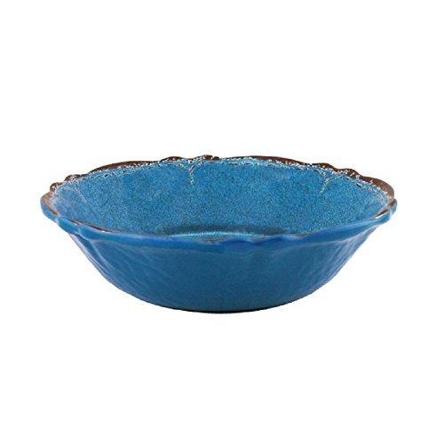 10 x 10 x 5 Clear Baci Milano Acrylic Salad Bowl w//Serving Utencils