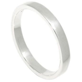 新宿銀の蔵 3mm幅 プレーン平打ち シルバー 925 リング 7~21号 (15号) 指輪 メンズ レディース シンプル