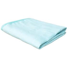 シングルサイズ 接触冷感 綿100%ガーゼケット「ひんやり3重ガーゼケット」【GL】約140×190cm ブルー(#9830155)