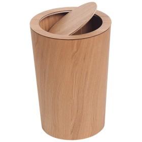 XJZxX 日本のクリエイティブ収納ゴミ箱は木製のごみ箱リビングルーム寝室オフィスホテルゴミを入れることができますインナーバレルごみ箱バスケット-12L - ごみの分別 (色 : ベージュ)