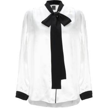 《セール開催中》PINKO レディース シャツ ホワイト 40 シルク 100%