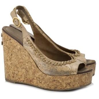 シャネル Chanel プラットフォーム ウェッジ 靴 中古