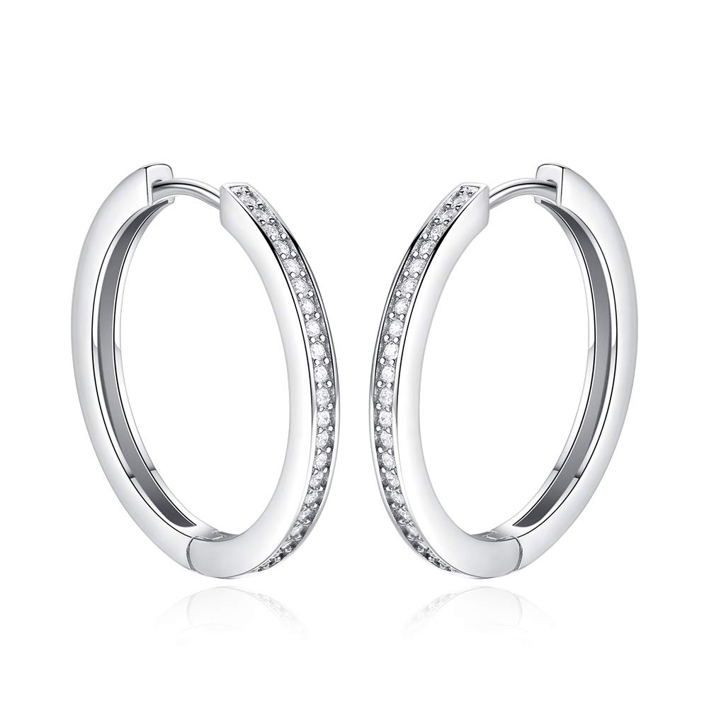 Jewels By Lux 925 Sterling Silver 7mm Round Cubic Zirconia Earrings