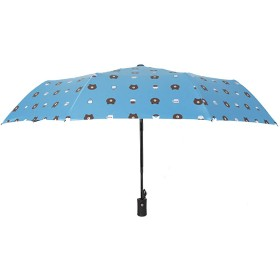 AIZGGE レディース傘 晴雨兼用 高密度PG布 耐風撥水 UVカット 加工済み 超軽量 携帯しやすい 紫外線遮蔽率99% 完全遮光 雨傘 日傘 収納ポーチ付き ブルー