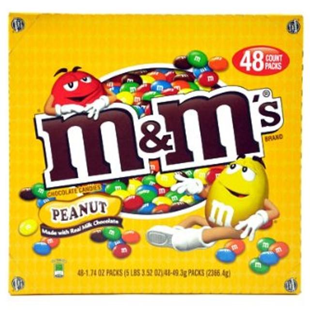 Costco コストコ m&m's 【エム&エムズ チョコレートキャンディー ピーナッツ味 48袋入り】【並行輸入商品】