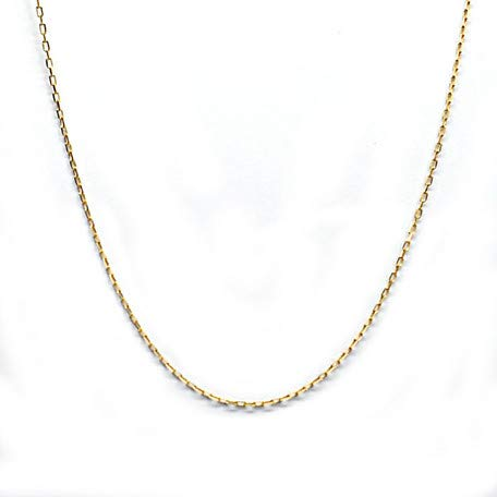 14k Yellow Gold 0.5mm Box Chain Necklace 1.19g