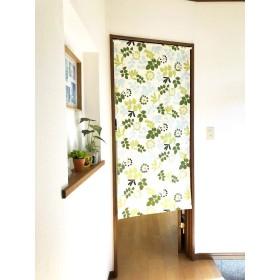 パネルカーテン ロングスクリーン 間仕切り パーテーション 目隠し のれん カーテン 冷暖房効率アップ おしゃれ デザイン 壁掛け タペストリー 北欧 ボタニカル柄 W73 (幅73×丈150 cm)
