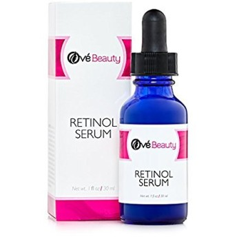 Retinol Face Serum 2.5% with Hyaluronic Acid Best Facial Serum to Help Reduce Wrinkles, Crows Feet, Fine Lines and Age Spots