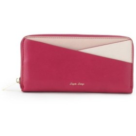 (pink adobe/ピンクアドベ)カラフル3配色切替ラウンドジップ長財布/レディース パープル(083)