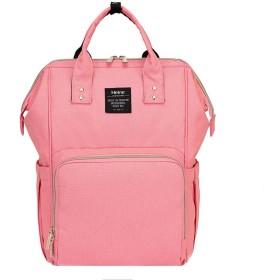 多機能ミイラバッグ、大容量ショルダーファッション母親と子供の妊娠中の女性バックパック(ピンク、緑、色、青) (Color : Pink)
