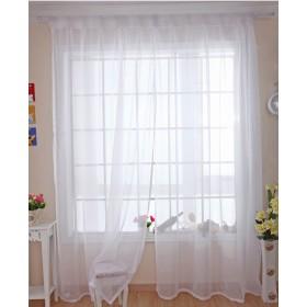Pureaqu 薄手 カーテン ミラーレースカーテン オシャレ 薄い 透け感良い 明るく ドレープ パネル 自然の風を通し 薄い カーテン 装飾 カーテン ドアカーテン チュール 取り外し簡単 1組2枚入り ホワイト 幅100cm×丈230cm