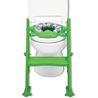 リトルプリンセス Little Princess かえるのふかふか ステップ式 トイレトレーナー グリーン