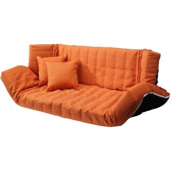 低反発マルチリクライニングソファー ヴィンス オレンジ