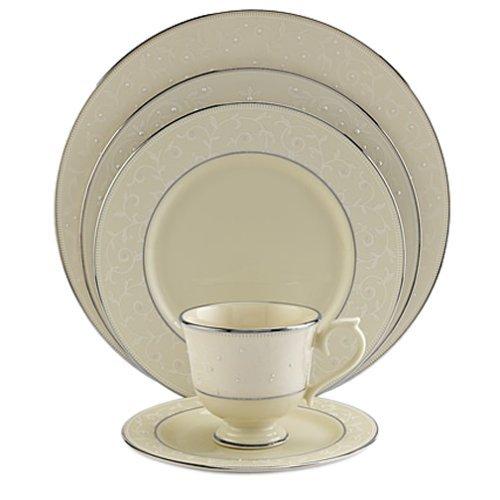Lenox Opal innocence Dinner Plate Platinum Banded New