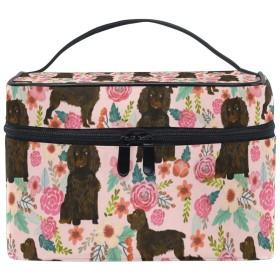 メイクポーチ ボイキンスパニエル ピンク 化粧ポーチ 化粧箱 バニティポーチ コスメポーチ 化粧品 収納 雑貨 小物入れ 女性 超軽量 機能的 大容量
