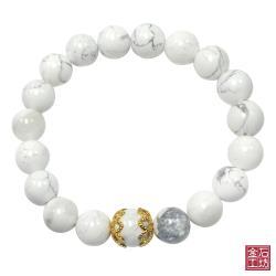 【金石工坊】能量白紋石手鍊(10mm)