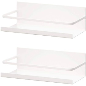 山崎実業 マグネットスパイスラック 2個セット ホワイト 白 スパイスラック マグネット キッチン おしゃれ