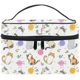 ネコメイクボックス コスメ収納 トラベルバッグ 化粧 バッグ 高品質