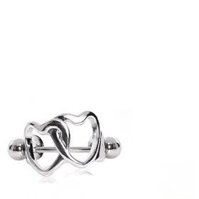 Covet Jewelry 316L サージカルスチール インターロック ハート 軟骨 カフ