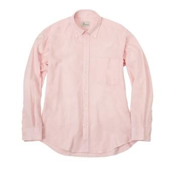 CANTERBURY WOOD(カンタベリーウッド)綿100%オックス ボタンダウン長袖シャツ カジュアルシャツ