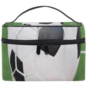 メイクポーチ サッカー フットボール 化粧ポーチ 化粧箱 バニティポーチ コスメポーチ 化粧品 収納 雑貨 小物入れ 女性 超軽量 機能的 大容量