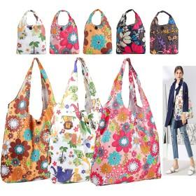 食料品トートバッグ 買い物用折りたたみトートバッグ ポケットに入る 洗濯可能 耐久性 軽量 Size2