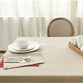 褪色防止テーブルカバー ソリッドカラーシンプルなテーブルクロスファブリックコットンとリネンエッジテクスチャテーブルカバー多機能テーブルクロスホームコーヒーテーブルテーブルクロス 多目的テーブルクロス (Color : Beige, Size : 90130cm)