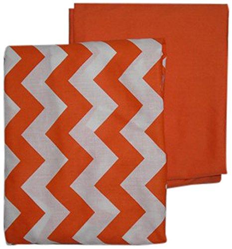 BabyDoll Solid Crib//Toddler Bed Sheet Set Orange