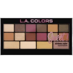 L.A. Colors Sweet! 16 Color Eyeshadow Palette - Brave (並行輸入品)
