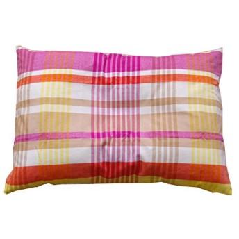 イケヒコ 布団カバー 洗える 綿100% チェック柄 インド綿使用 『バジル 枕カバー』 ピンク 約43×63cm ♯1541599