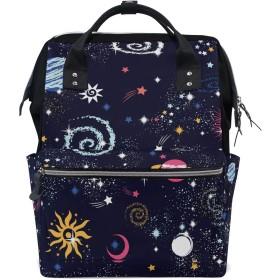 ママバッグ マザーズバッグ リュックサック ハンドバッグ 旅行用 星空 プラネット柄 ファション