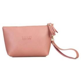 シンプルな大容量化粧品バッグ、女性用アウトドアトラベルウォッシュバッグに適したポータブルPuチェンジクラッチバッグ、グレー、ピンク、レッド (Color : Pink)