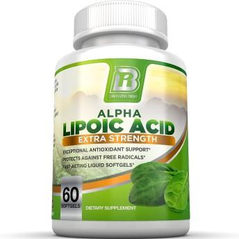 BRI Alpha Lipoic Acid Softgels - 300mg 60 softgel capsules