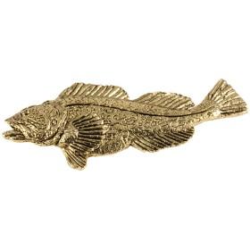 クリエイティブピューターDesigns、ピューターLingcod手作り海水魚ラペルピンブローチ、s065pr ゴールド