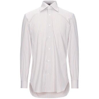 《セール開催中》GIAMPAOLO メンズ シャツ カーキ 39 コットン 77% / ナイロン 18% / ポリウレタン 5%