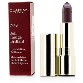 クラランス Joli Rouge Brillant (Moisturizing Perfect Shine Sheer Lipstick) - # 744S Plum 3.5g/0.1oz並行輸入品