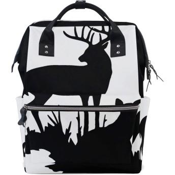 ANNSIN マザーズバッグ ママバッグ リュック バックパック ハンドバッグ 3WAY 多機能 防水 大容量 軽量 シンプル おしゃれ ベビー用品収納 出産準備 旅行 お出産祝い 鹿