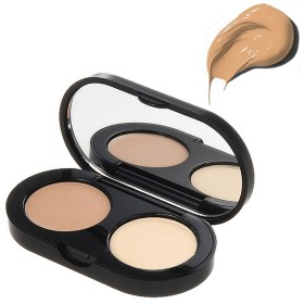 New Creamy Concealer Kit - Natural Tan Creamy Concealer + Pale Yellow Sheer Finish Pressed Powder - 3.1g/0.11oz