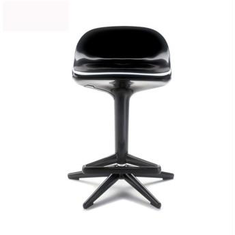 バーチェア - 調節可能な回転式朝食の台所バースツール、純木の持ち上がる反対スツールの高い椅子、バースツール (Color : Black)